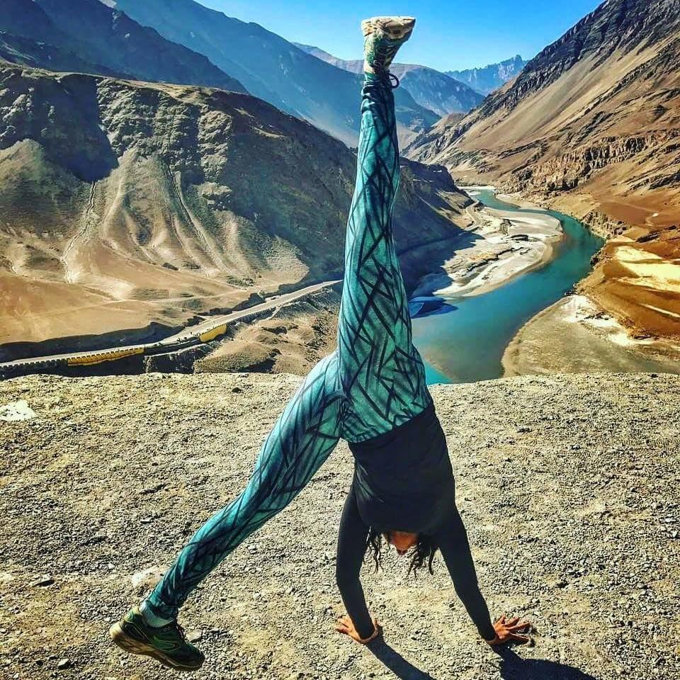 Cartwheel ladakh blue water river winter